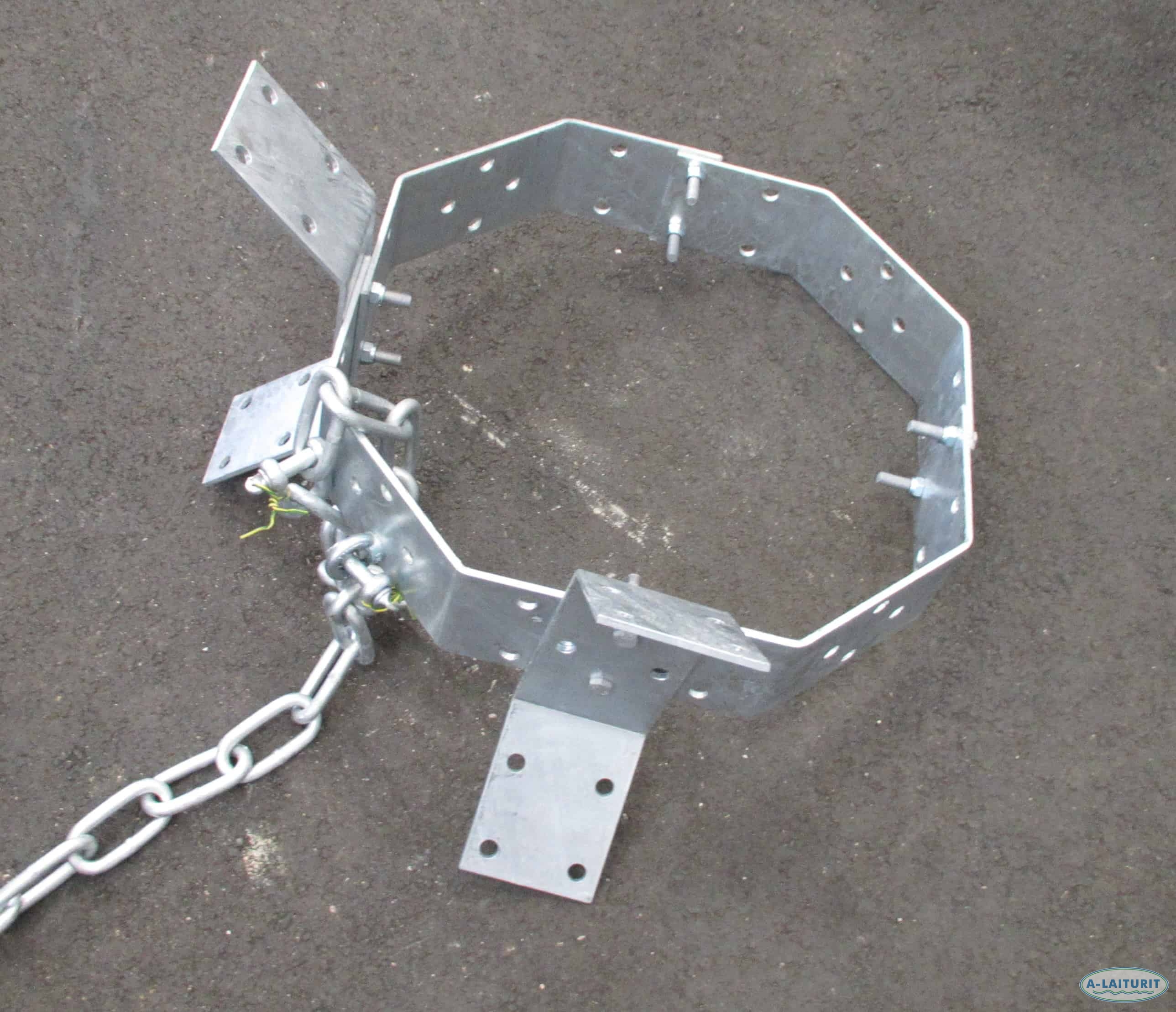 Anchor, steel ring, 36 kg self-assembly HDG Steel