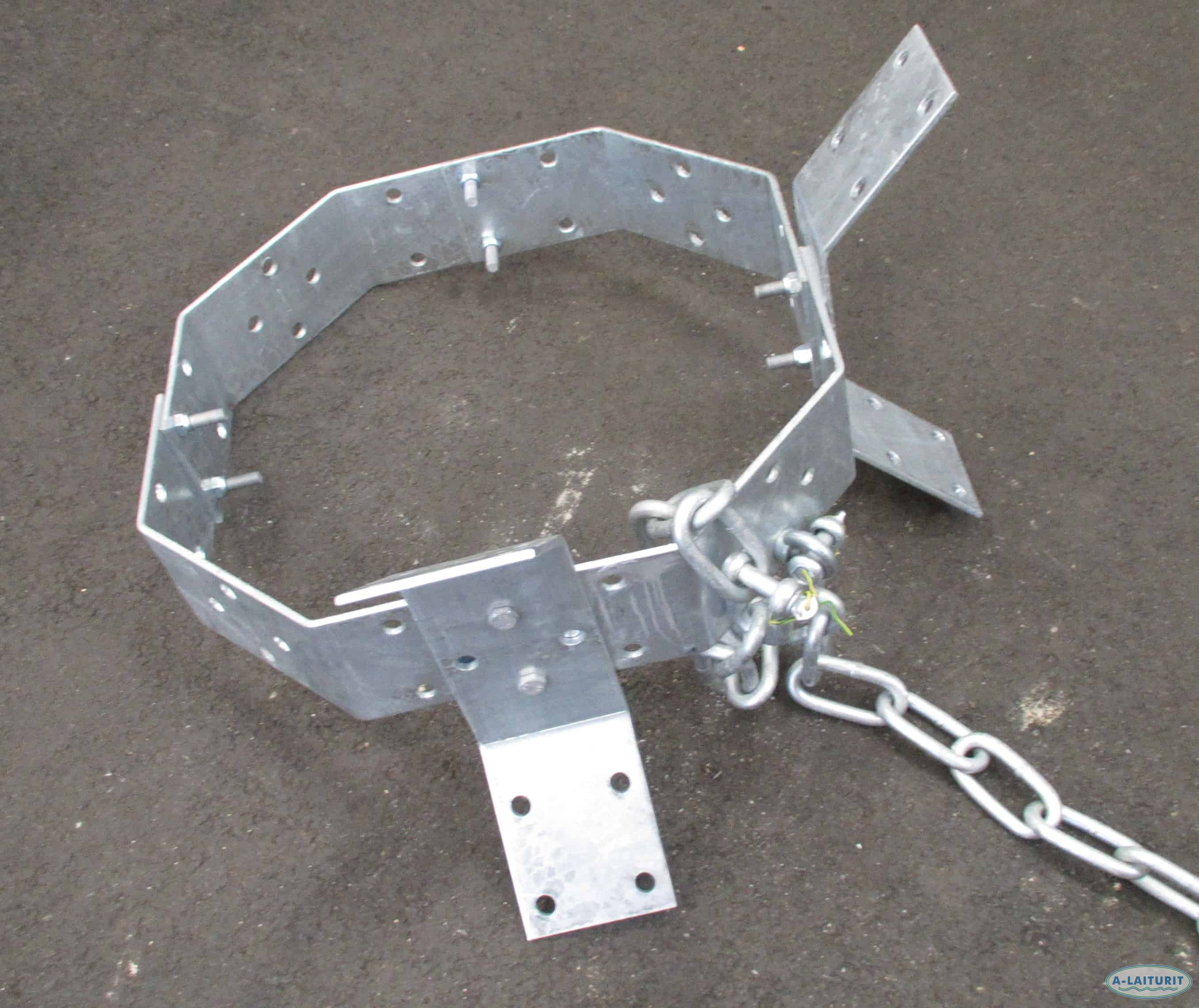 Anchor, steel ring, 72kg self-assembly HDG Steel