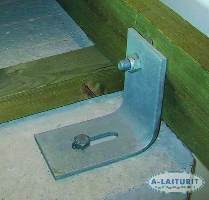 Fastsättningsvinklar för A/S betongponton (4st)