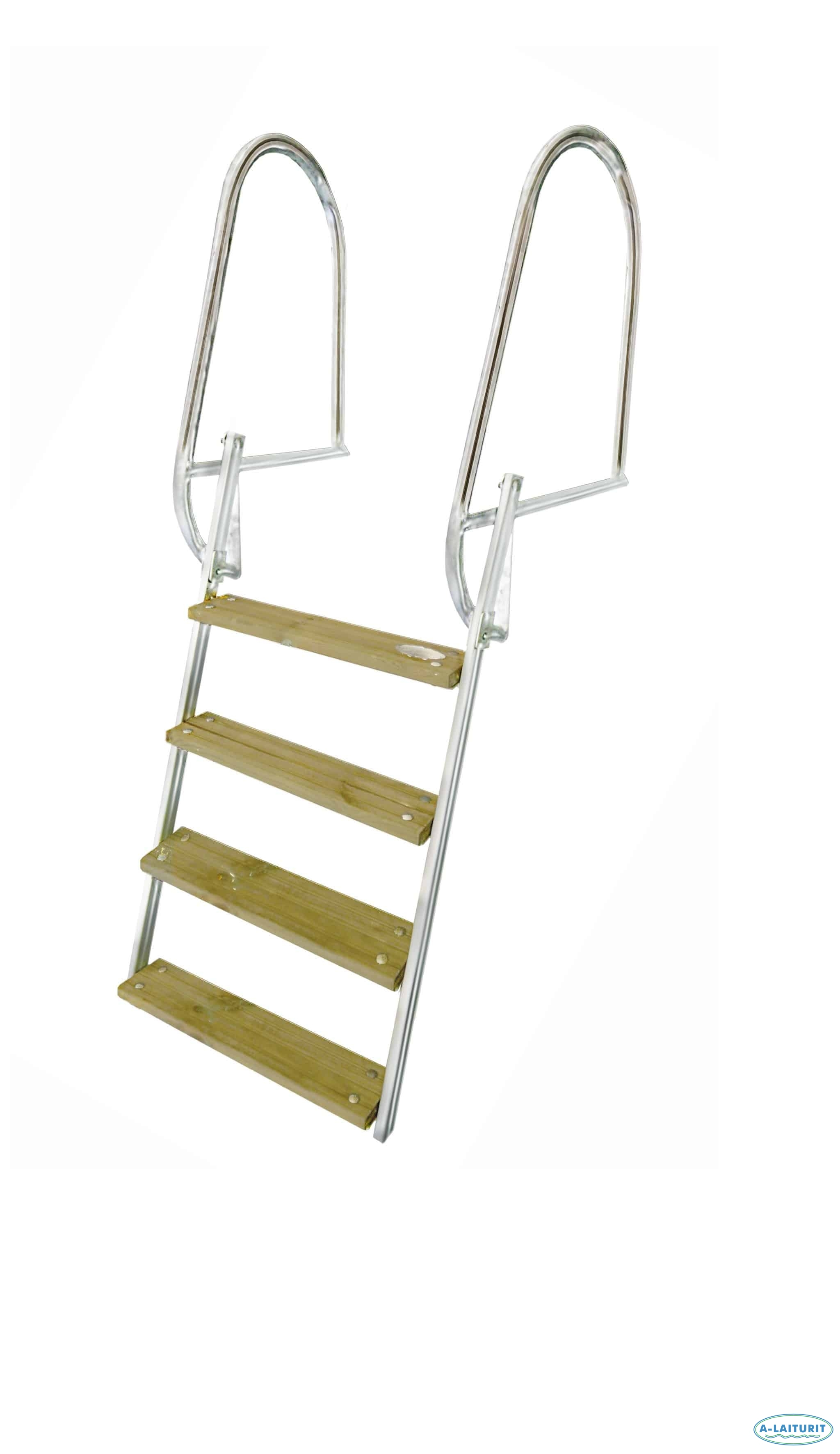 Swimming ladder SS collapsible short 100 cm, 4 steps