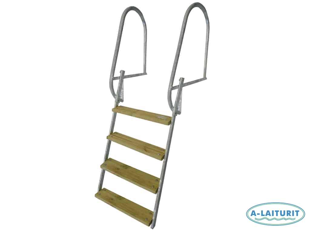 Short Collapsible Swimming Ladder, HDG, 100 cm 4 steps