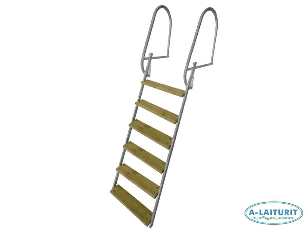 Long Collapsible Swimming Ladder, HDG, 10 cm 7 steps