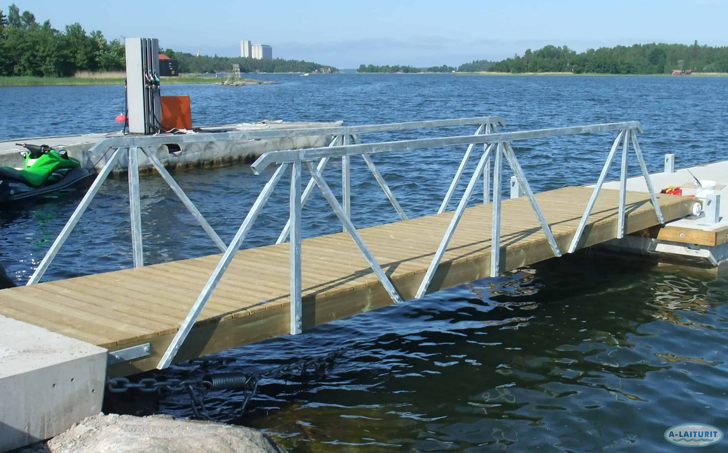 Handrail, steel, for 4.8-6 m gangway, PAIR