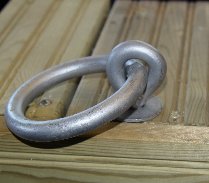 Mooring ring 12 x 265 mm, bolted through